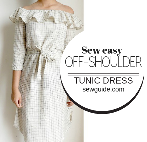 offshoulder tunic dress pattern