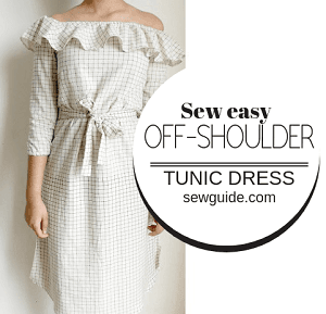 offshoulder tunic dress