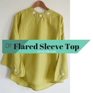 flared sleeve top pattern