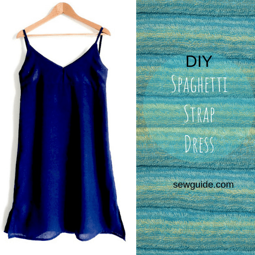 Spaghetti Strap Dress Free Sewing Pattern Tutorial Sew Guide