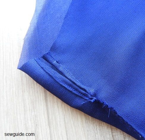 sewing a top
