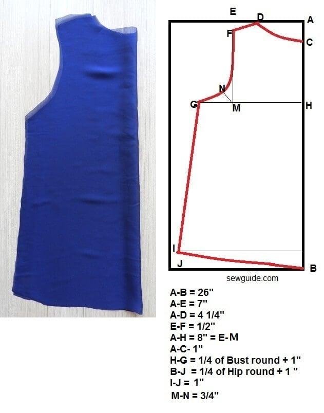 chiffon top pattern