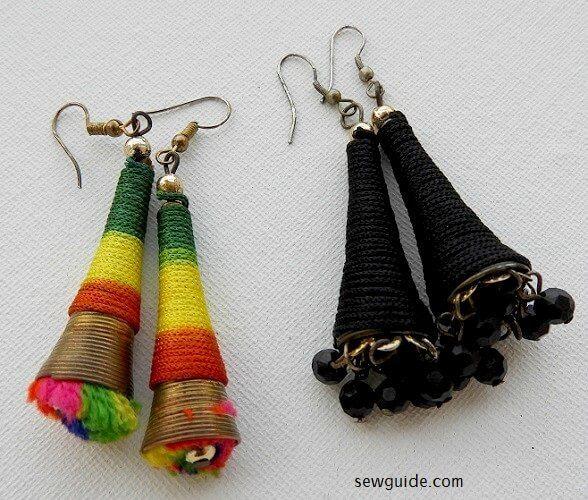 yarn earring