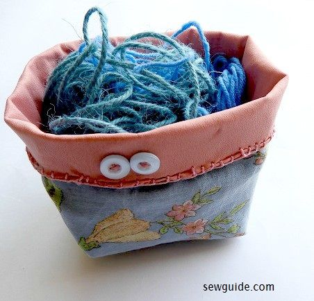 making a fabric basket