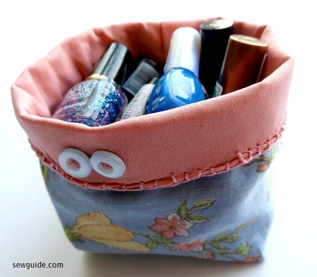 make fabric baskets