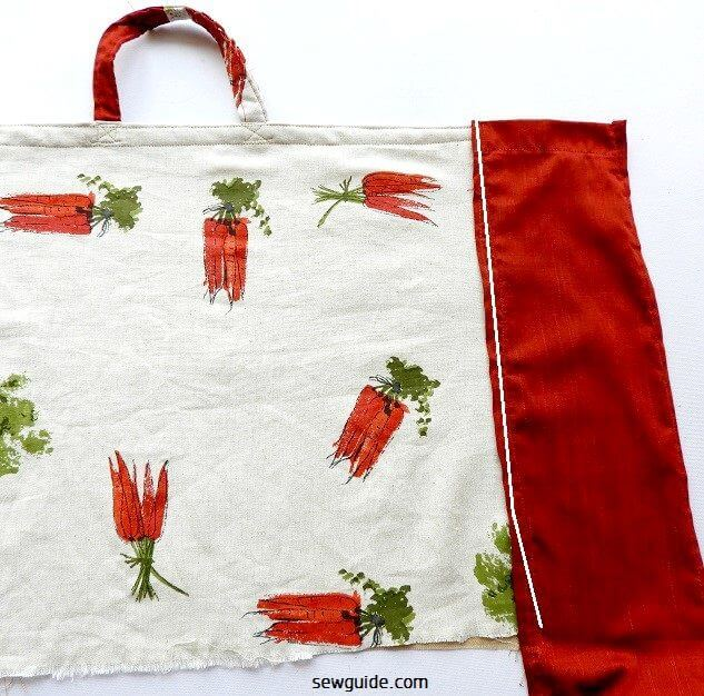 grocery bag sewing pattern & tutorial
