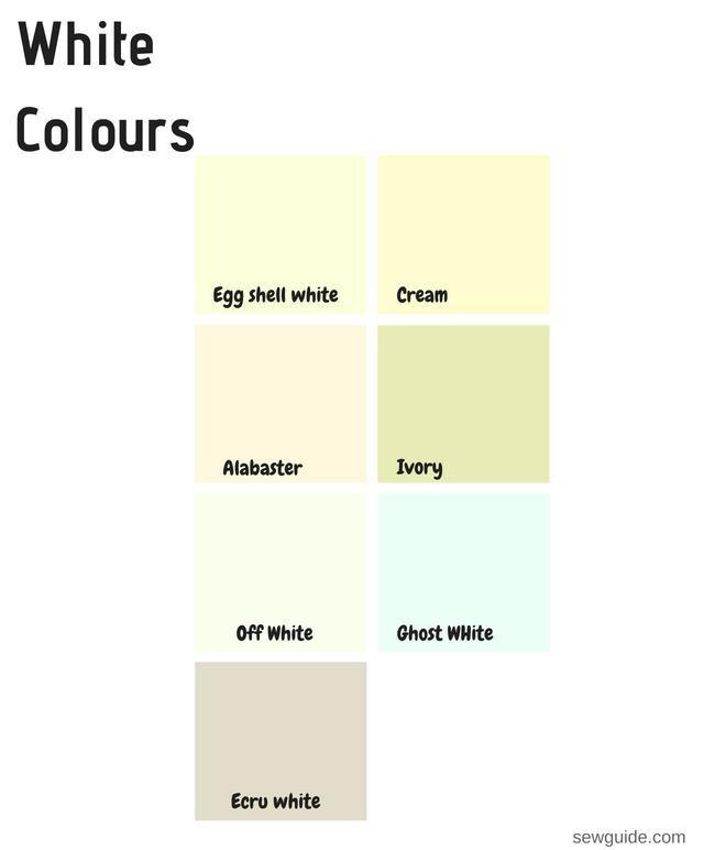white colour names