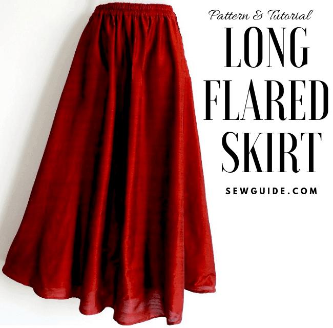 long skirt sewing pattern & tutorial