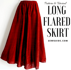 long flared skirt sewing pattern