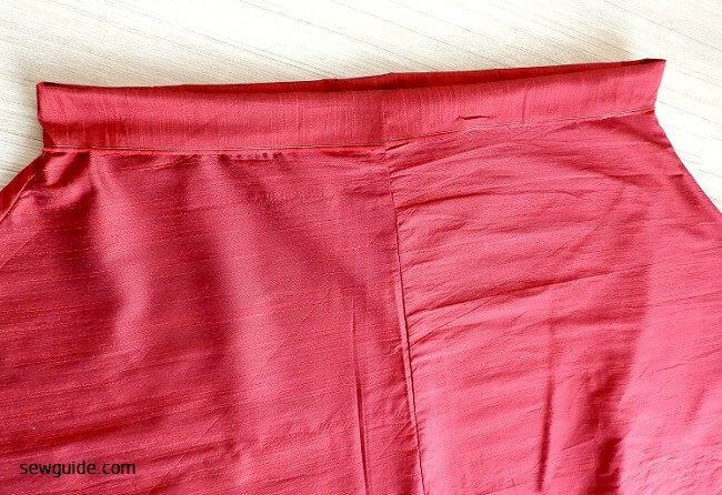how to make a Long flared skirt free size