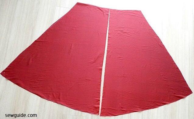sew Long flared skirt diy tutorial