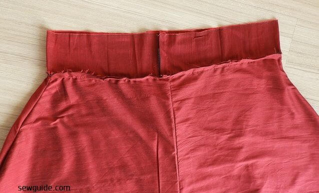 sewing a flared skirt which is long