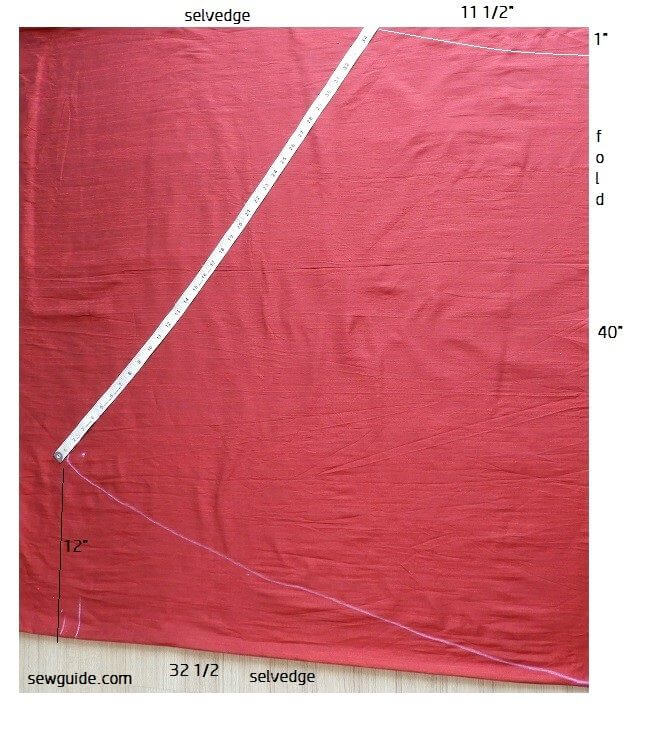 Long flared skirt free sewing pattern & tutorial
