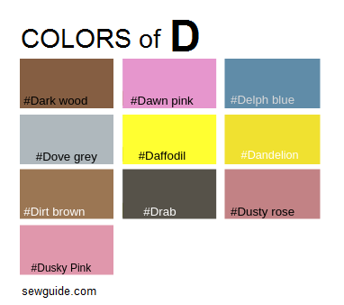 Color names in fashion design : An easy reference guide for