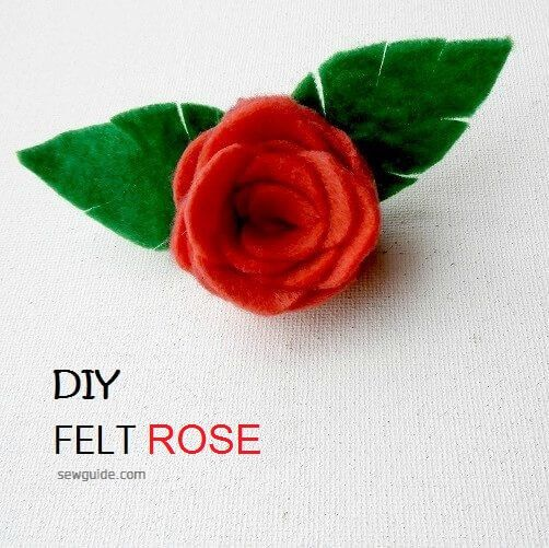 diy rose with felt