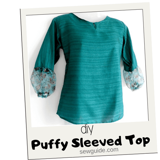 puffy sleeved top diy tutorial
