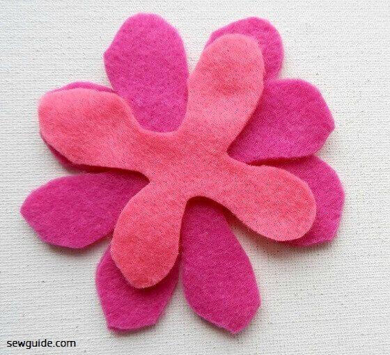 felt flower making instructions