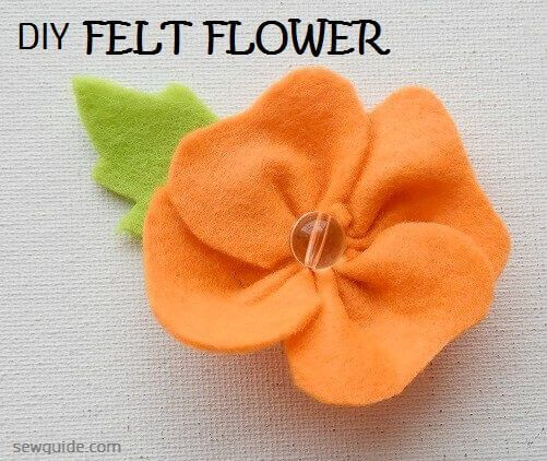 make a simple felt flower