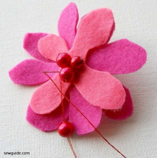 felt flower making instructions