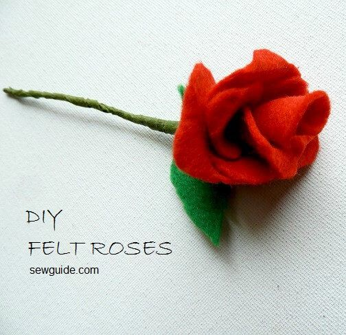 diy roses in felt