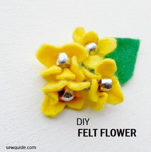 instructions for making flowers with felt
