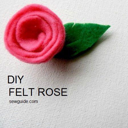 felt rose diy