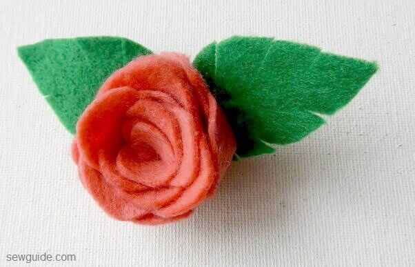 make a flet rose flower diy