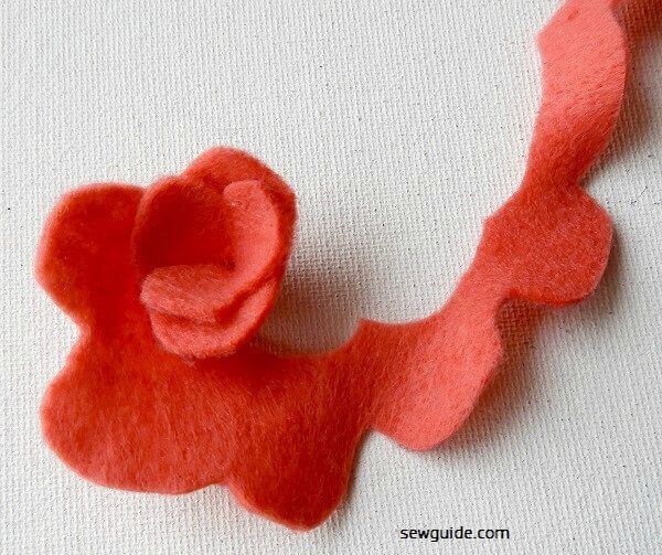 make felt rose flower