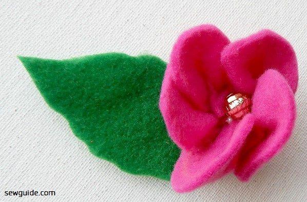 felt flower making