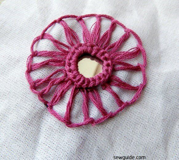 mirror work embroidery designs