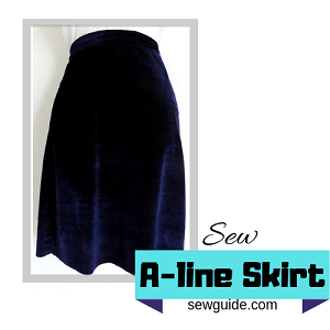 how to sew Aline skirt