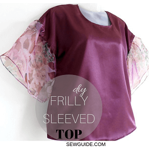 frilly sleeved top diy