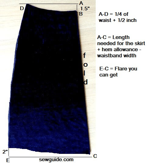 aline skirt pattern