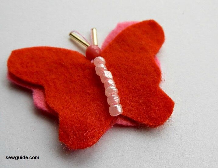 stitching beautiful butterflies o clothes