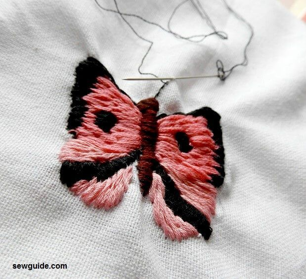 how to do butterfly embroidery