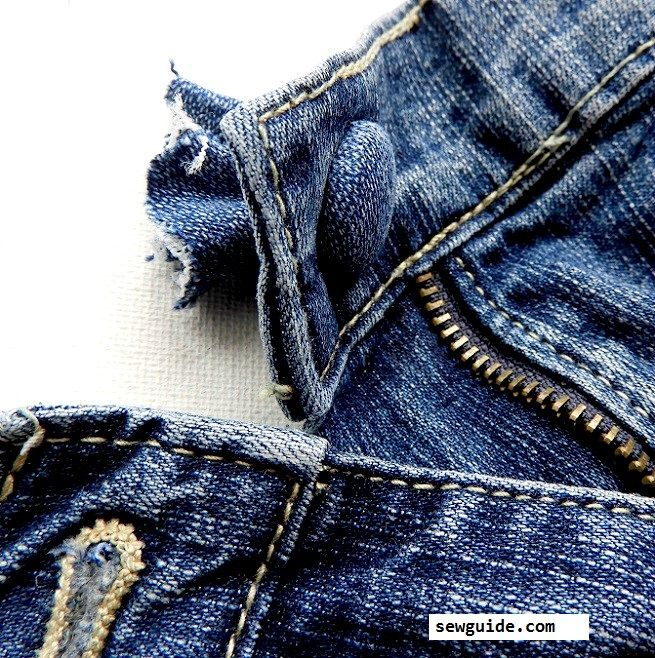 Jean Button Replacement : Best way to fix a button back on your jeans