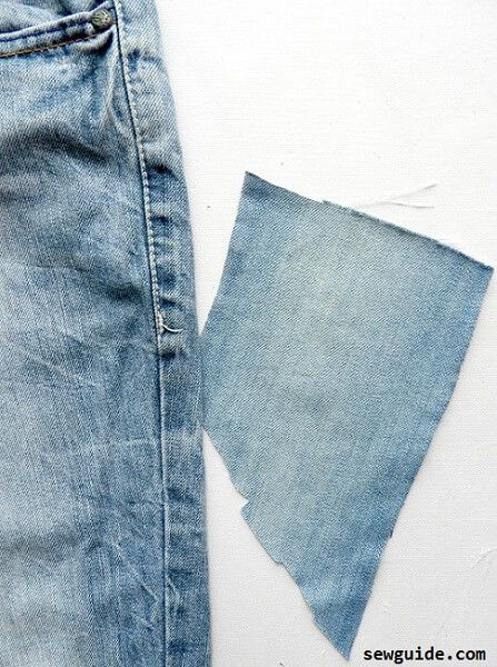 fix hole in a jeans