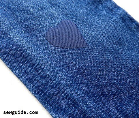 mending jeans with tears