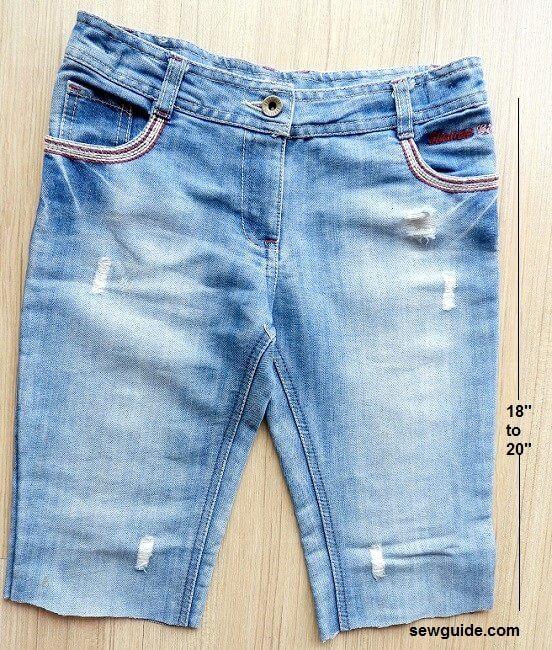 diy jeans skirt - mini
