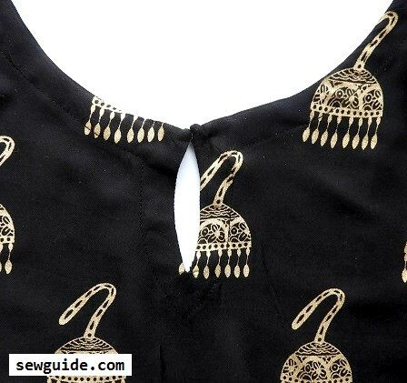 keyhole necklines