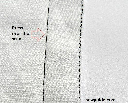 plain seam sewing