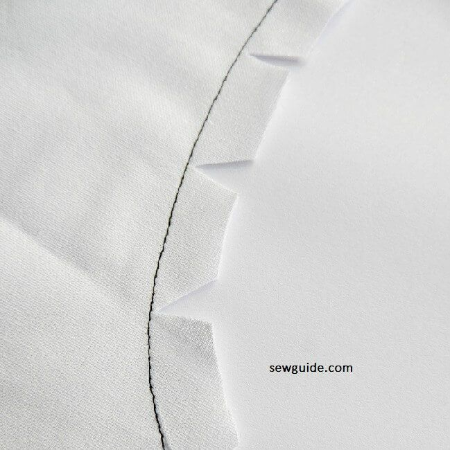 sewing plain seams on curves