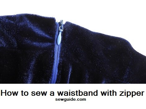 insert a zipper on waistband