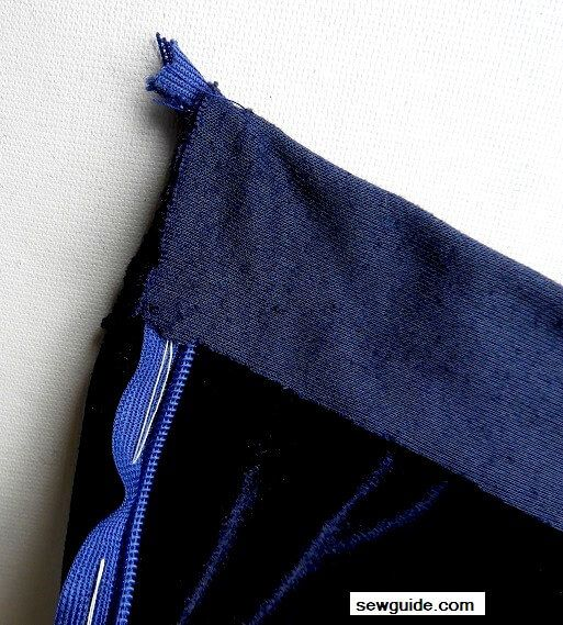 How to sew a waistband with zipper : 3 ways