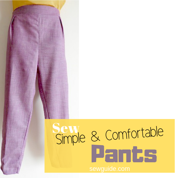 sewing pants pattern and tutorial