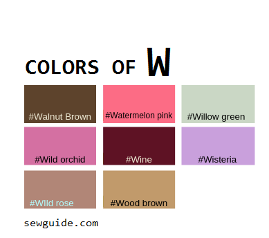 Color Names In Fashion Design An Easy Reference Guide For 100 Colours Sew Guide,Sherwin Williams Exterior Paints Reviews