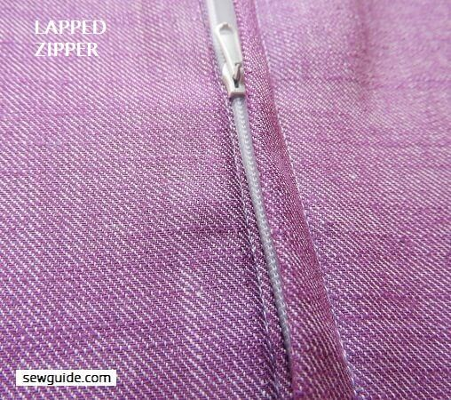 LAPPED ZIPPERS