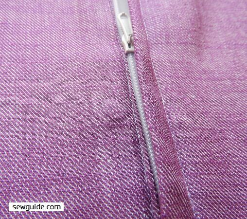 sew lapped zipper