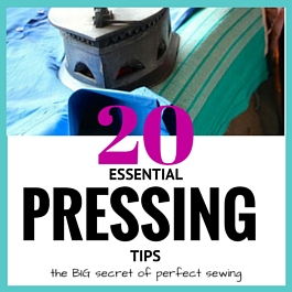 pressing tips for sewing