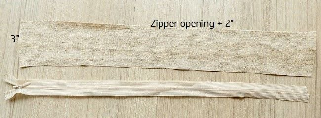 lapped zipper opening